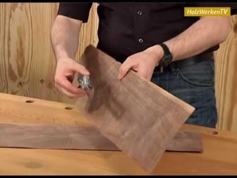 Erfolgreicher Möbelbau ohne Furnier-Risse! - YouTube