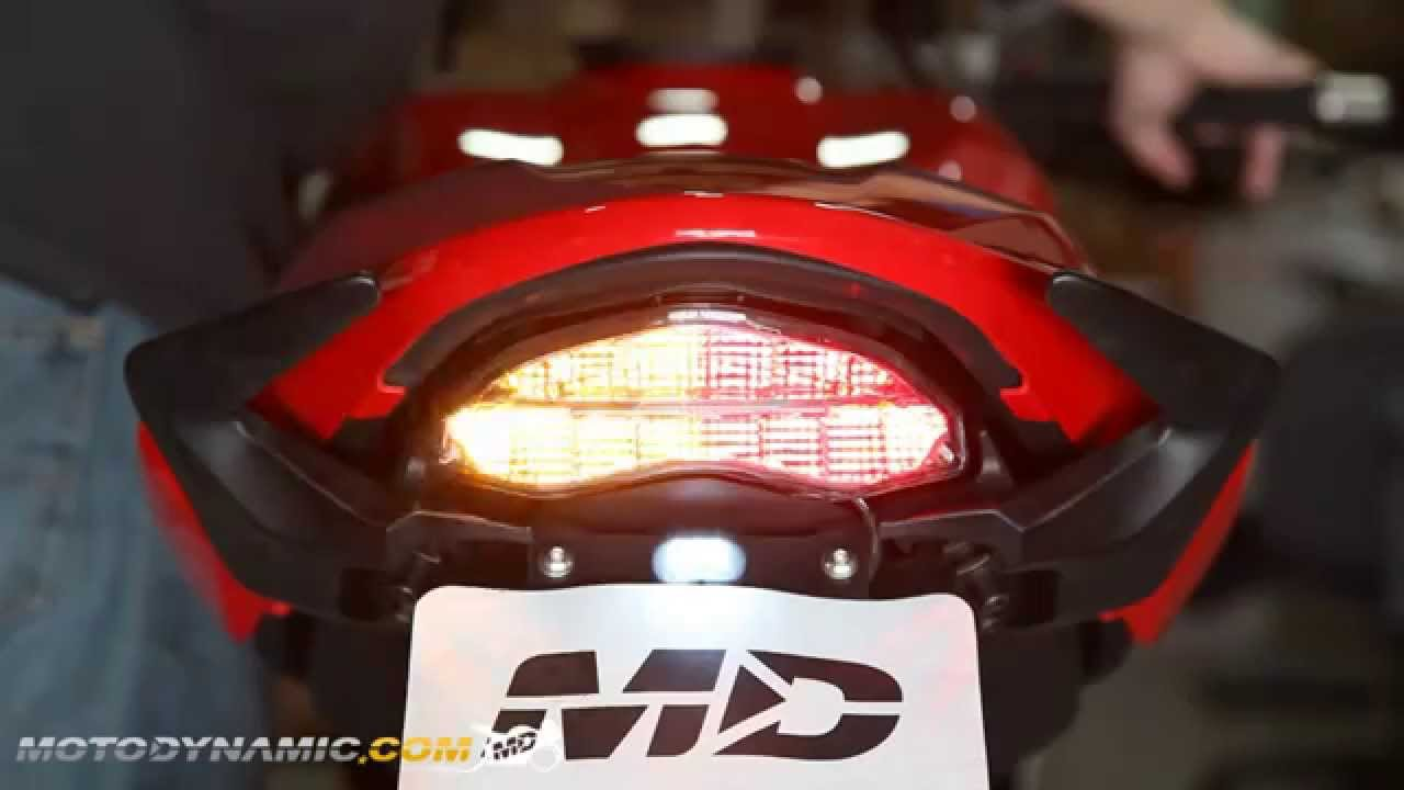 2014-2016 ducati monster 821/1200 sequential led tail lights clear