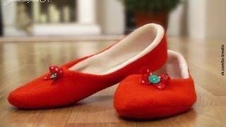 как сшить домашние тапочки.How to sew slippers