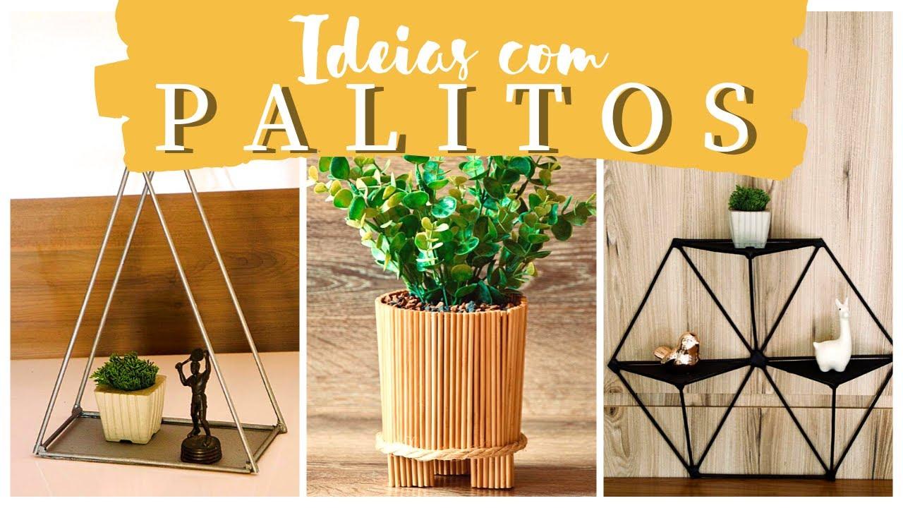 DECORAÇÕES BARATINHAS com PALITO  de  CHURRASCO - Eduardo Wizard