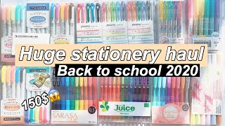 Huge Stationery haul   150$ of Japanese school supplies   back to school 2020