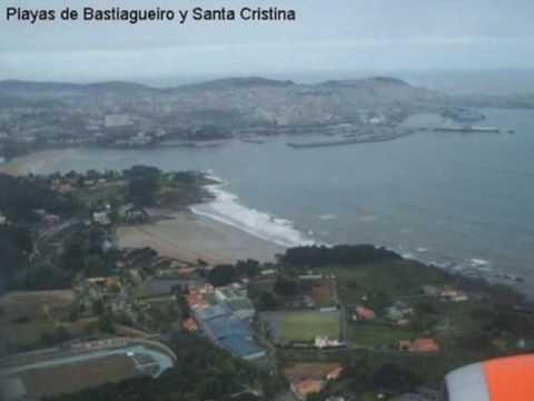 Vuelo de aproximación al aeropuerto de Alvedro (A Coruña)