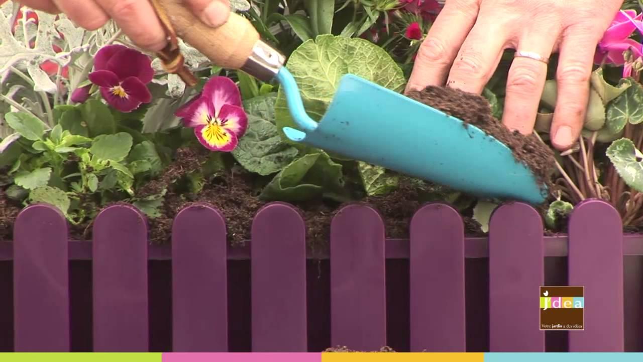 J Dea Realiser Une Jardiniere De Fleurs D Hiver Youtube