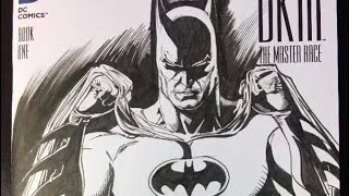 COLORING ETHAN VAN SCIVER BATMAN DRAWING WITH COPIC MARKERS!