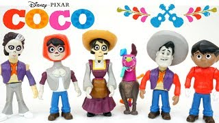 Disney Pixar COCO Skullectables movie toys wrong heads on bodies mini figures Miguel Ernesto Hector