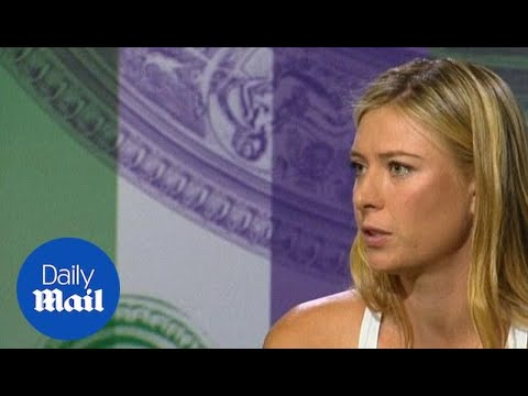 Sharapova on Williams being the one to beat at Wimbledon - Daily Mail