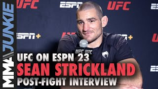 Sean Strickland fought 'like a coward' in decision win | UFC on ESPN 23 interview
