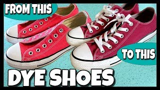 How To Dye Your Converse (Shoes) 📍 How To With Kristin