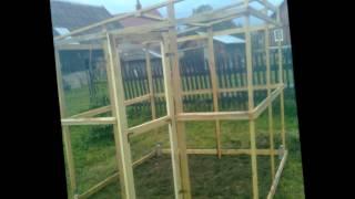 Budowa szklarnia małym kosztem 06 2012 Krempna
