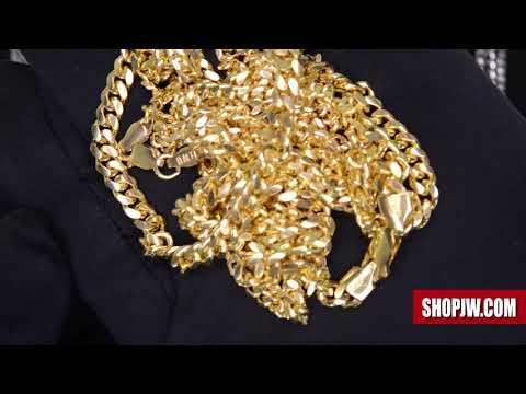 Yellow Gold Finish and Rhodium Finish .925 Silver Chains || Shopjw