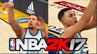 Who Is The Better Shooter Of The Splash Brothers | Ultimate Shooting Competition | NBA2K17 Challenge