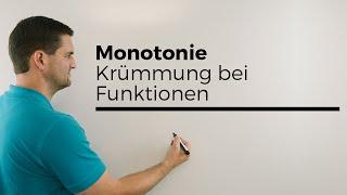 Monotonie, Krümmung bei Funktionen, Übersicht mit Ableitungsgraphen