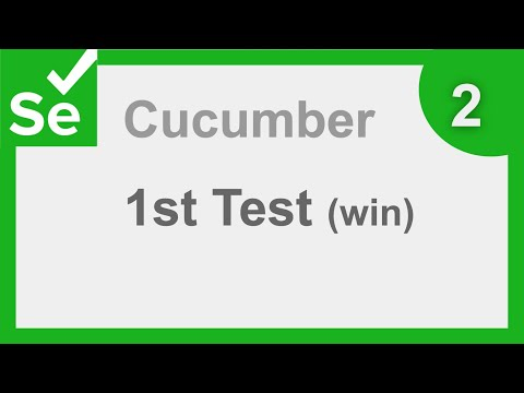 Cucumber Selenium Java BDD Project  - First Selenium Test | Windows