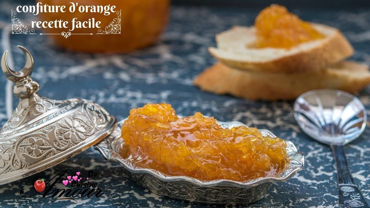 confiture a l'orange recette facile