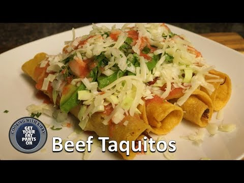How To Make Beef Rolled Tacos (Flautas / Taquitos Recipe)  - Mexican Food