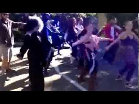 "EF Santa Barbara Staff Thriller ""flashmob"""