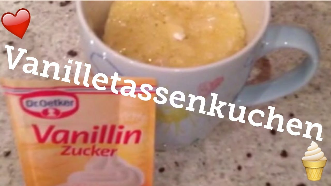 Vanille Tassenkuchen Mugcake Backen Diy Youtube