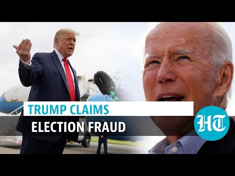 Watch: Donald Trump claims election fraud, slams Joe Biden amid close race