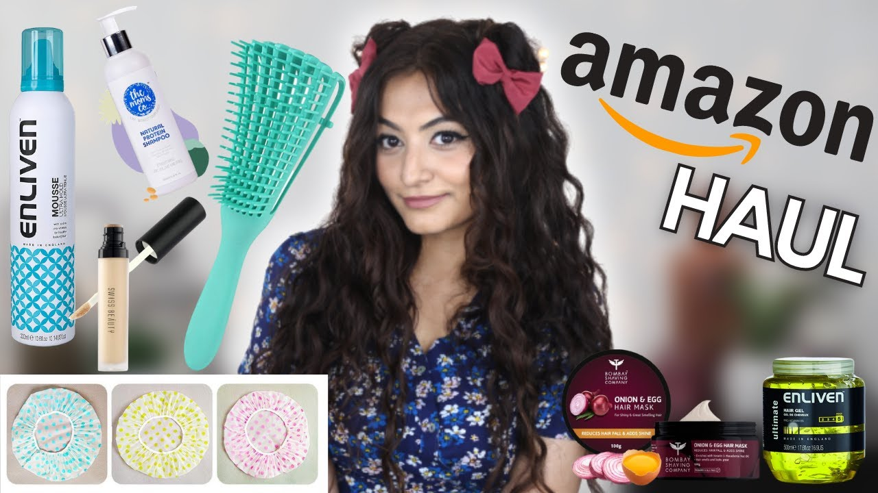 AMAZON HAUL INDIA   CURLY HAIR PRODUCTS & MAKEUP