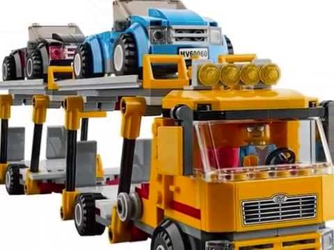 lego city le camion de transport des voitures jouet pour enfants youtube. Black Bedroom Furniture Sets. Home Design Ideas