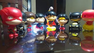 2018 Jollibee Kiddie meal and 2017 McDonald's DC Justice League toys comparison