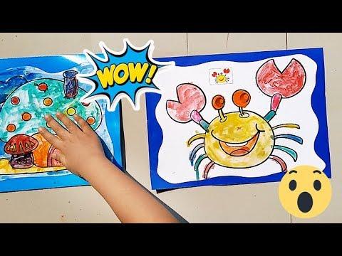 Mewarnai Kepiting Dan Rumah Jamur Learn To Coloring Nafisatube