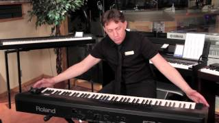 roland fp 80 digital stage piano product demonstration