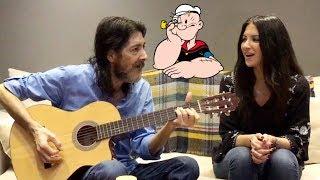 لقاء مع أسطورة أغاني سبيستون طارق العربي طرقان و ابنته ديما