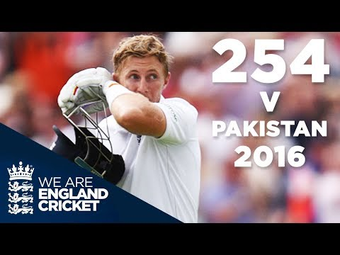 Joe Root's Highest Ever Score of 254 v Pakistan 2016 - Highlights