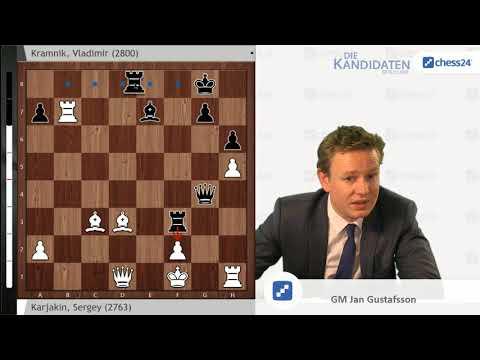 Karjakin-Kramnik,  Kandidatenturnier 2018: Analyse von Jan Gustafsson