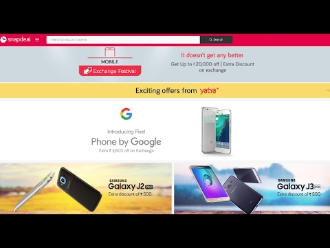 5ff0be06194 Snapdeal Exchange Fest  Offers on Google Pixel
