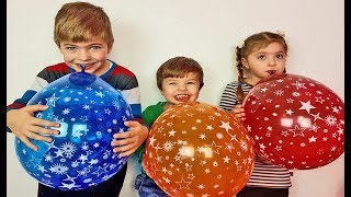 Funny video with ballons