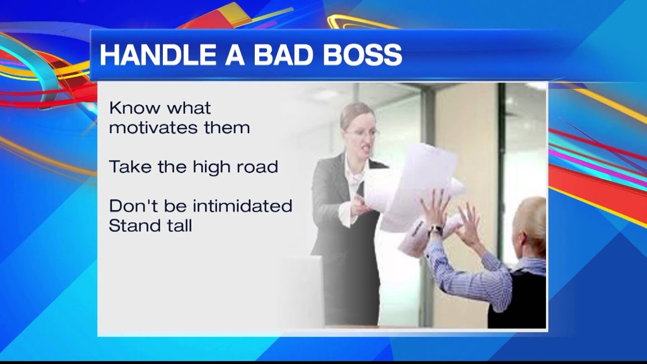 how to handle a bad boss how to handle a bad boss