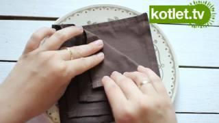 Repeat youtube video Serwetka złożona w trójkątną kieszonkę na sztućce - KOTLET.TV