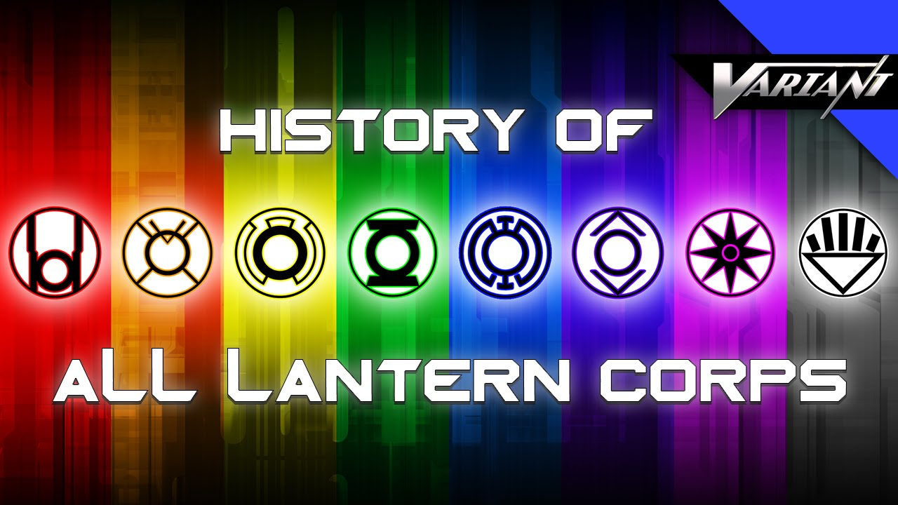 History Of All The Lantern Corps! - YouTube