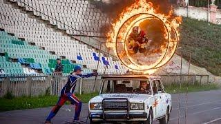 В Волжском состоялось экстрим-шоу каскадеров