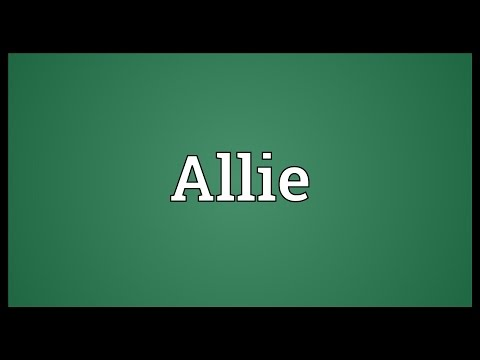 Allie Meaning