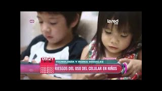 Riesgos de uso del celular en niños