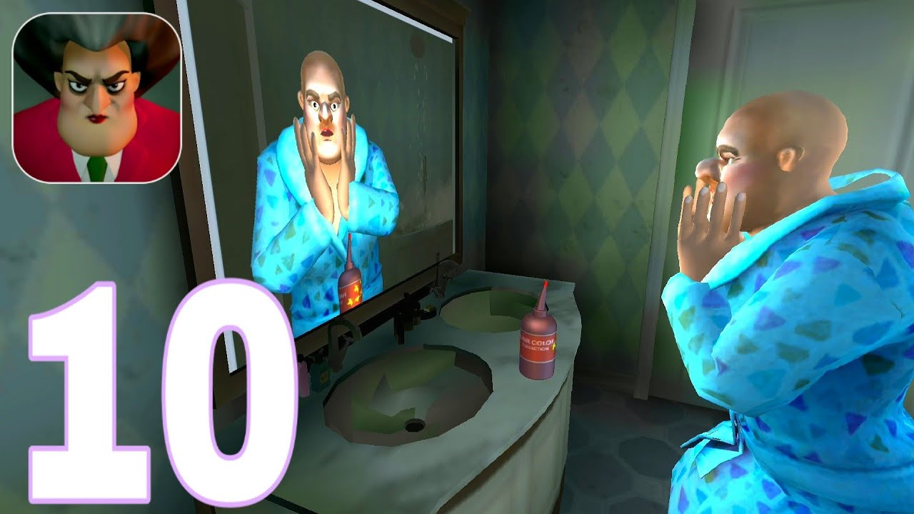 Download Scary Teacher 3D  New Update   Gameplay Walkthrough   PART 10 (iOS, Android)