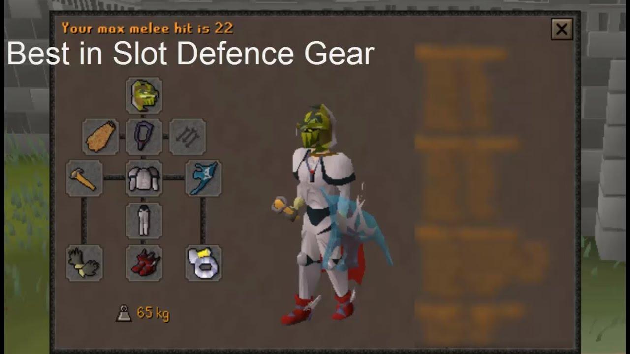 Oldschool Runescape Best in Slot Defence Gear