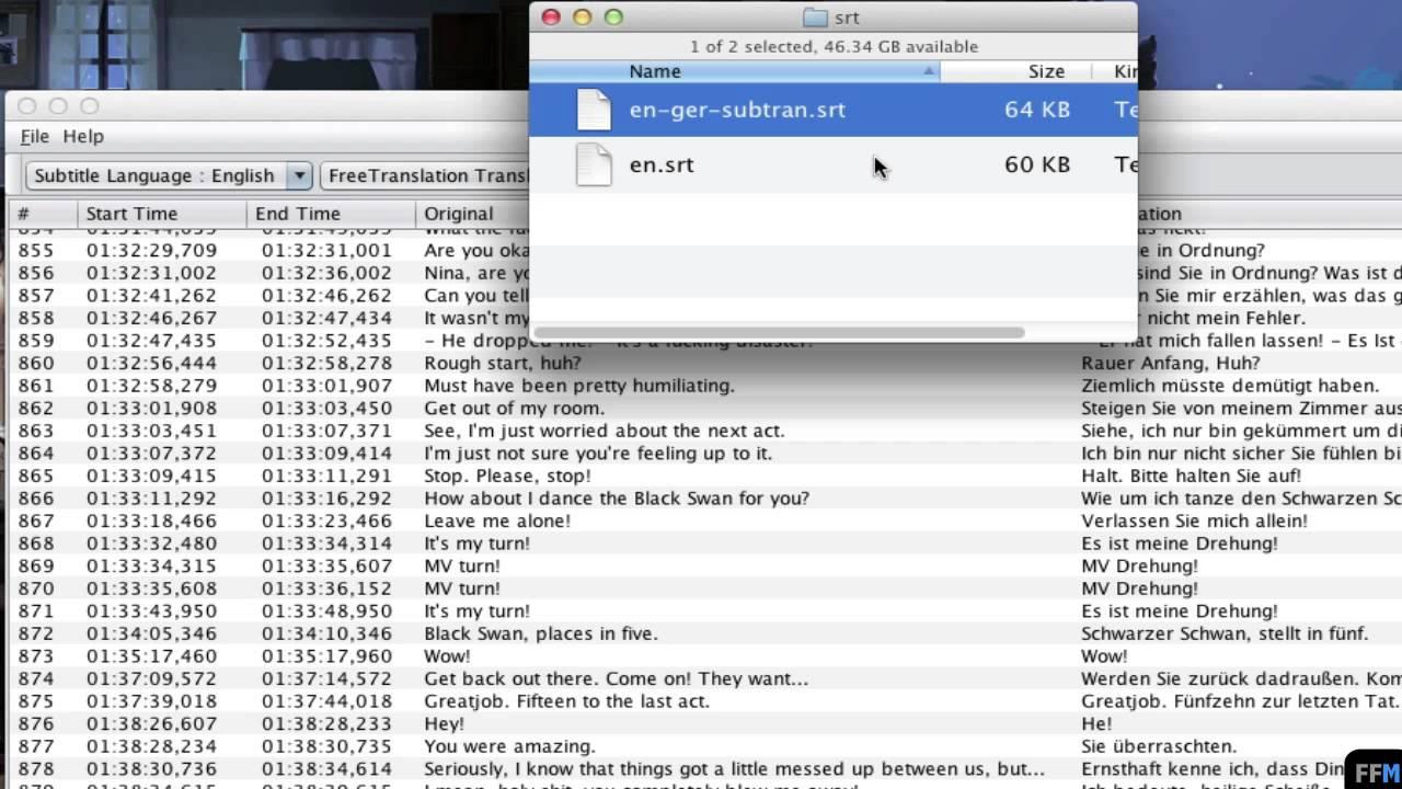 Translate Subtitle files ( SRT) Free on Mac