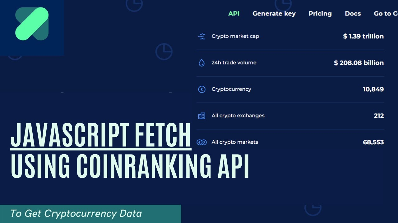 JavaScript Project - Using the Fetch API to Get Crypto Data from the Coin Ranking API