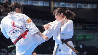 The 46th ALL JAPAN KARATE TOURNAMENT Women 1st round Momo Fujihara ...