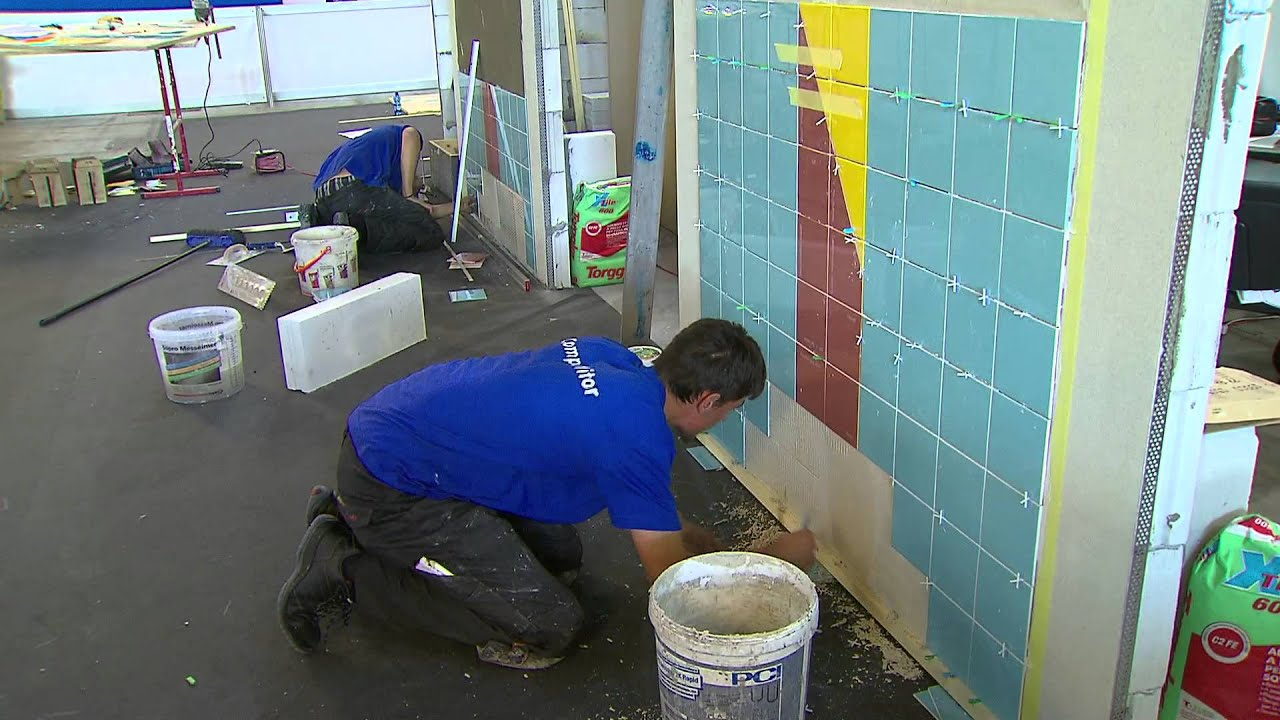 Worldskills Italy 2014 - Wall and Floor Tiling - YouTube
