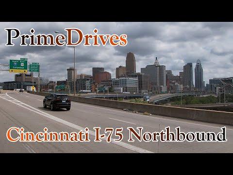 PrimeDrives - Cincinnati, Ohio - I-75 Northbound over the Ohio River from Kentucky into Ohio