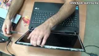 Как заменить матрицу на ноутбуке Lenovo g505, g500(В этом видео показано как самому поменять экран ноутбука LCD Lenovo g505, g500. http://kom-servise.ru/index.php/remont-noutbukov/49-lenovo/738-738..., 2014-10-10T12:10:15.000Z)