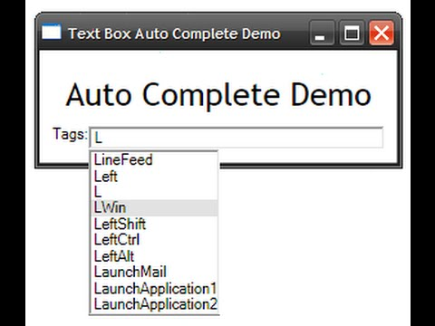 How to Create AutoComplete TextBox in Windows Form Application