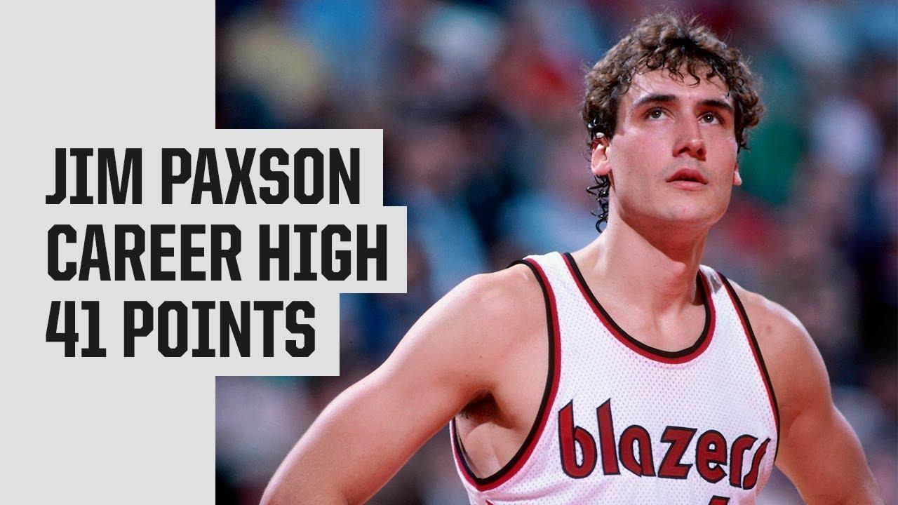Throwback: Jim Paxson 41 Points (Career High) vs. Bulls in 1984 - YouTube