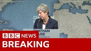 Theresa May's last big speech as PM - BBC News