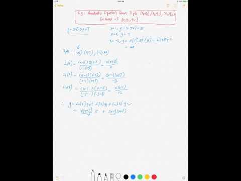 E G Quadratic Equation Given 3 Pts X0 Y0 X1 Y1 X2 Y2 Via Lagrange Youtube Becomes is y > x ? youtube